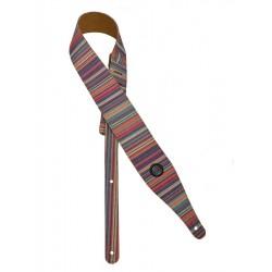 Gaucho Guitarrem i lilla/lyserød tværstribet