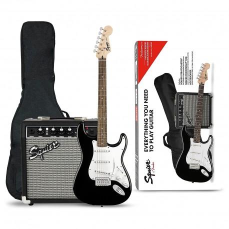 Fender SQ Stratocaster Black Guitarpakke
