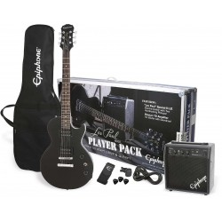 Epiphone Les Paul Player Pack (sæt) Ebony Black