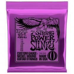 Ernie Ball 2620 Power Slinky 7-str. sæt 11-58 el-guitarstrenge