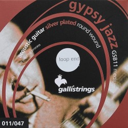 Gallistrings GSB11LE Gypsy Jazz akustisk guitar strenge (loop end)