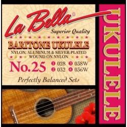 La Bella L-25 ukulele strenge baritone