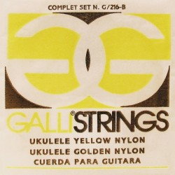 Gallistrings G216Y ukulele strenge soprano yellow nylon