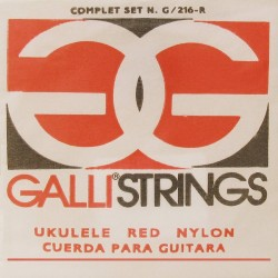 Gallistrings G216R ukulele strenge soprano red nylon
