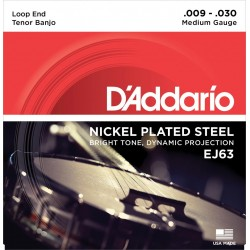 D'Addario EJ63 Banjo strenge tenor, light