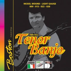 Boston Banjo strenge tenor, Nickel Light