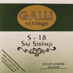 Gallistrings Saz strenge, Extra Light