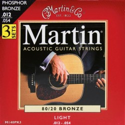 Martin M140 Light 12-54 (3-pak) 80/20 Bronze