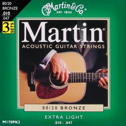 Martin M170 Extra Light 10-47 (3-pak) 80/20 Bronze