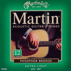 Martin M500 Extra Light 10-47 Phosphor Bronze (12-strenget)