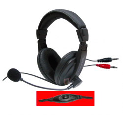 Huanjia CD-750 Stereo Headphones med mikrofon