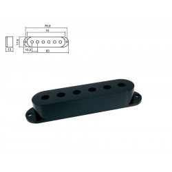 Sleipner Single Coil Pickup Cover i sort