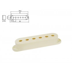 Sleipner Single Coil Pickup Cover i creme
