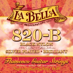 La Bella 820-B Flamenco guitar strenge i sort nylon