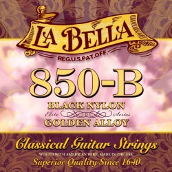 La Bella 850-B Classical strenge til guitar i sort nylon