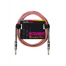 Boston Instrumentkabel i rød flet 3 meter