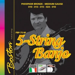 Boston Banjo strenge 5-str., Phos./Bro. Medium