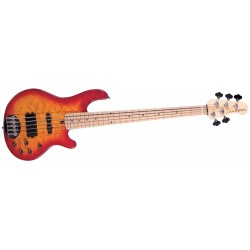 Lakland Skyline 5502 Cherry sunburst maple neck