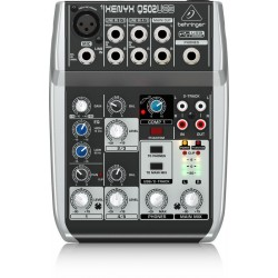 Behringer Xenyx Q 502 USB Mixer top