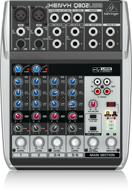 behringer xenyx q 802 usb mixer orkestergraven. Black Bedroom Furniture Sets. Home Design Ideas