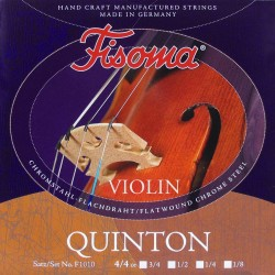 Fisoma Violin strenge stål/krom flatwound