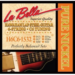 La Bella Lap Steel strenge, C6, nickel