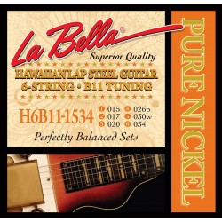 La Bella Lap Steel strenge, B11, nickel
