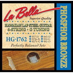 La Bella Lap Steel strenge, G, phosphor-bronze