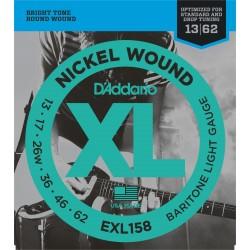 D'Addario EXL158 Nickel Wound Bariton Light Gauge