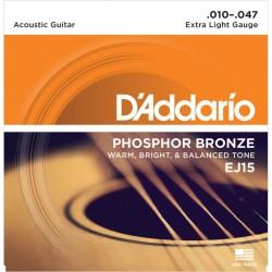 D'Addario EJ15 Phosfor Bronze Extra Light