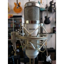 Vocal Microphone, with cradle, stand and Pop-filter