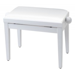 Proel Wooden Piano Bench White Frame