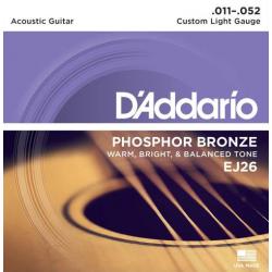 D'Addario EJ26 Phosfor Bronze Extra Light strenge