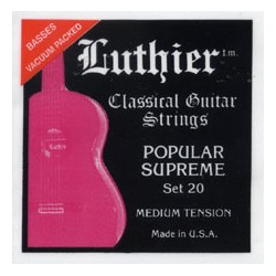 Luthier Popular Supreme set 20. Klassisk/Flamenco Strenge