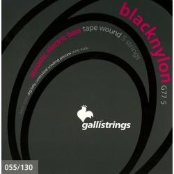 Gallistrings G77 Blacknylon 5str. bass 55-130