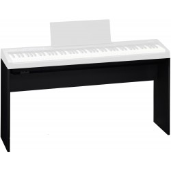 Keyboard/el-piano stativ i sort træ