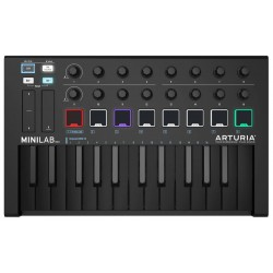 Arturia Minilab USB MIDI Controller Deep Black Limited Edition front