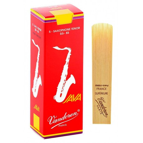 Vandoren Red Java Tenor Sax 5 Blades Strength 4