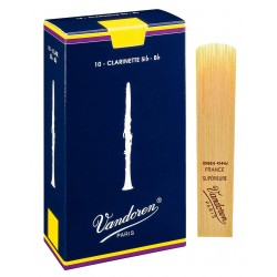 Vandoren Blue Classic 10 reeds, Clarinette, strength 4