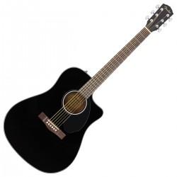 Fender CD-60SCE Dreadnought Black WN Westernguitar
