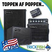 Kom ind i butikken på Søren Frichs Vej og prøv de fedeste højkvalitets toppe og kabinetter til bas fra amerikanske Trickfish Amplification! 🦈🐠🐡 #Orkestergraven #basseffects #bassamps #trickfish #trickfishamps