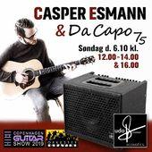 Det er med stor glæde, at vi kan præsentere Casper Esmann på vores stand til Copenhagen Guitar Show 2019. Kom forbi og hør ham spille på den nye Da Capo 75 Acoustic Amp.Casper giver prøver på sin kunnen, søndag klokken 12, 14 og 16. Vi glæder os!#orkestergraven #casperesmann #acousticguitars #acousticamps #udoroesner @casperesmann @copenhagenguitarshow1