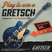 🔥 PLAY TO WIN 🔥De næste to uger er der konkurrence i Orkestergraven! Vi udlodder en GRATIS Limited Edition Electromatic Hollowbody fra Gretsch Guitars! 🎁🥳 Det, du skal gøre for at deltage i konkurrencen, er at kigge forbi butikken og spille på hvilken som helst Gretsch-guitar, vi har stående. Så skal du bare udfylde bare en kupon med navn, telefonnummer og navnet på dén Gretsch, du har spillet på. Nemt, ikke?Slå et smut forbi butikken senest d. 20. november for at deltage i konkurrencen.